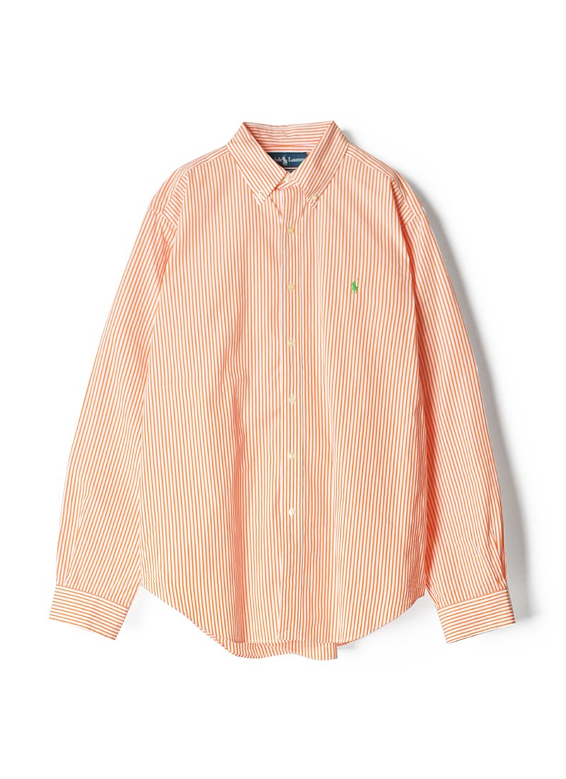 USED RALPH LAUREN Stripe B.D.Shirt No.11