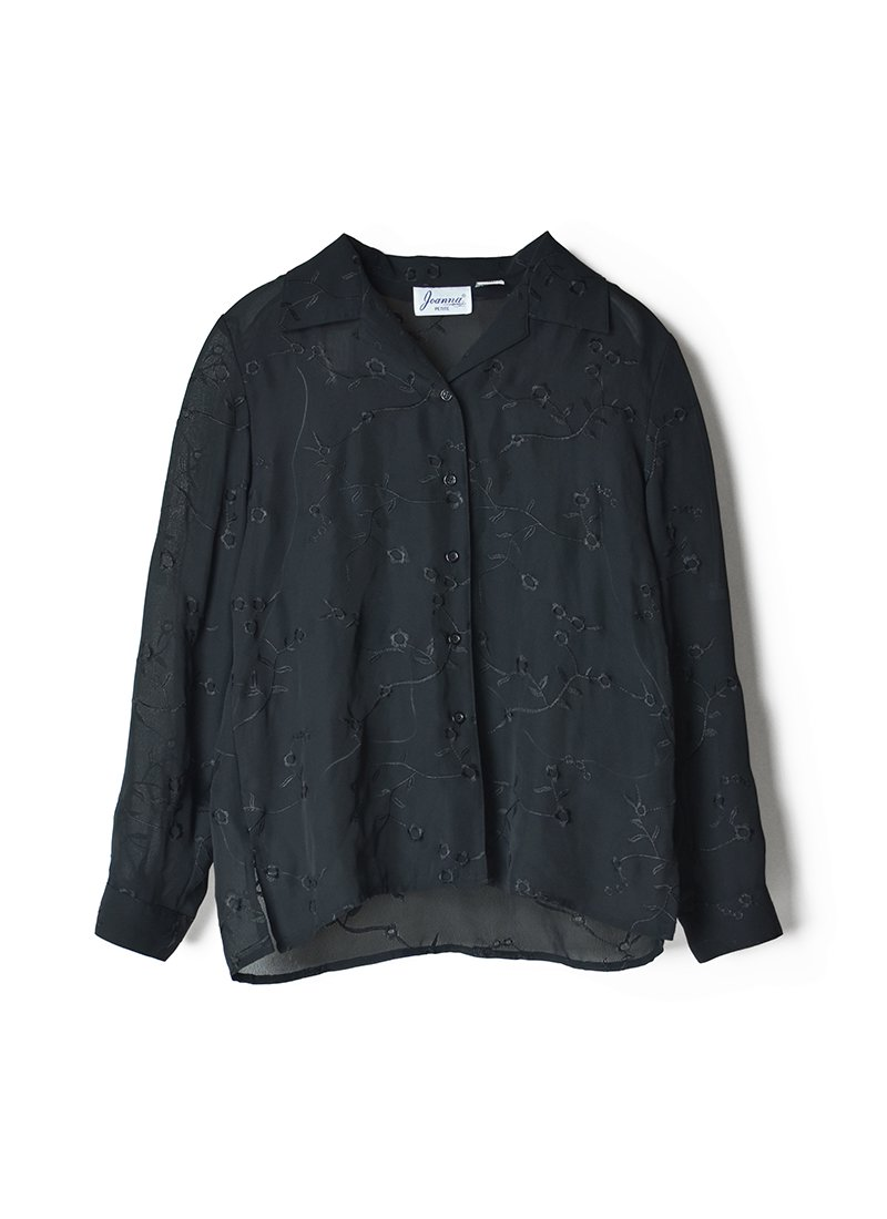 USED Flower Embroidery Blouse