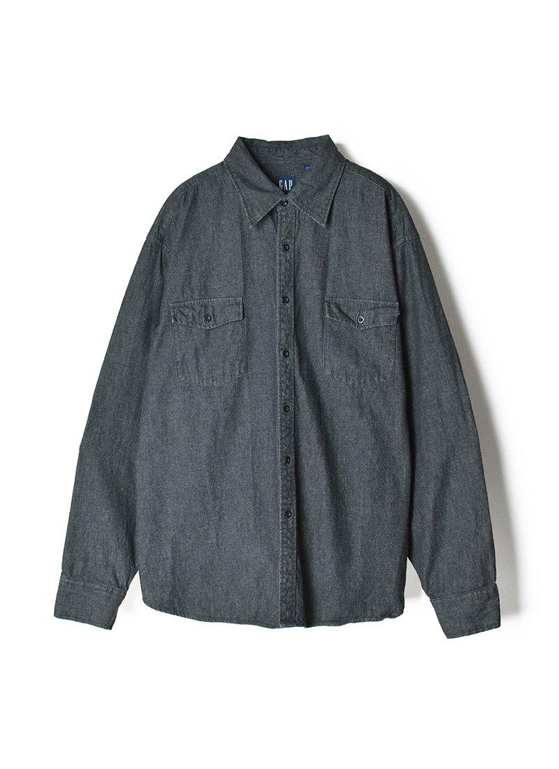 USED GAP Black Denim Shirt