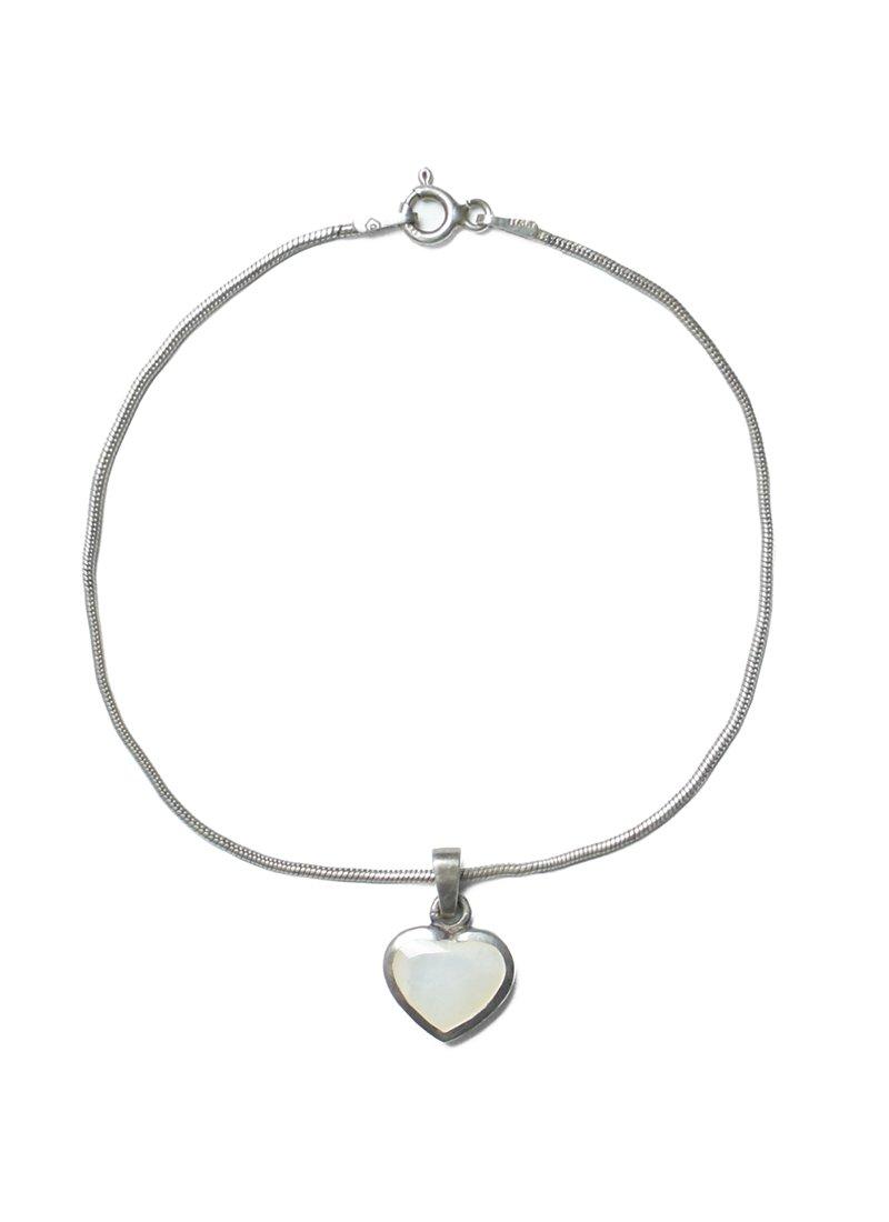 Vintage Heart Charm Bracelet