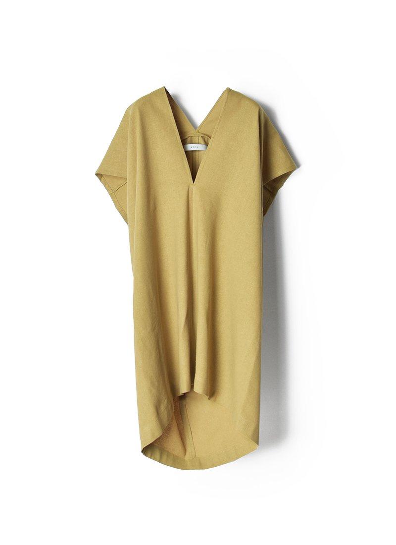 ARCHI Silk Linen Nep No-Sleeve Square Shirts