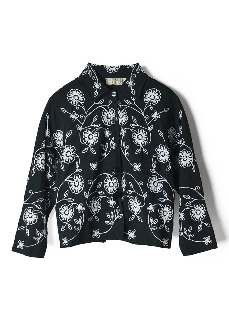 USED Flower Embroidery Light Jacket