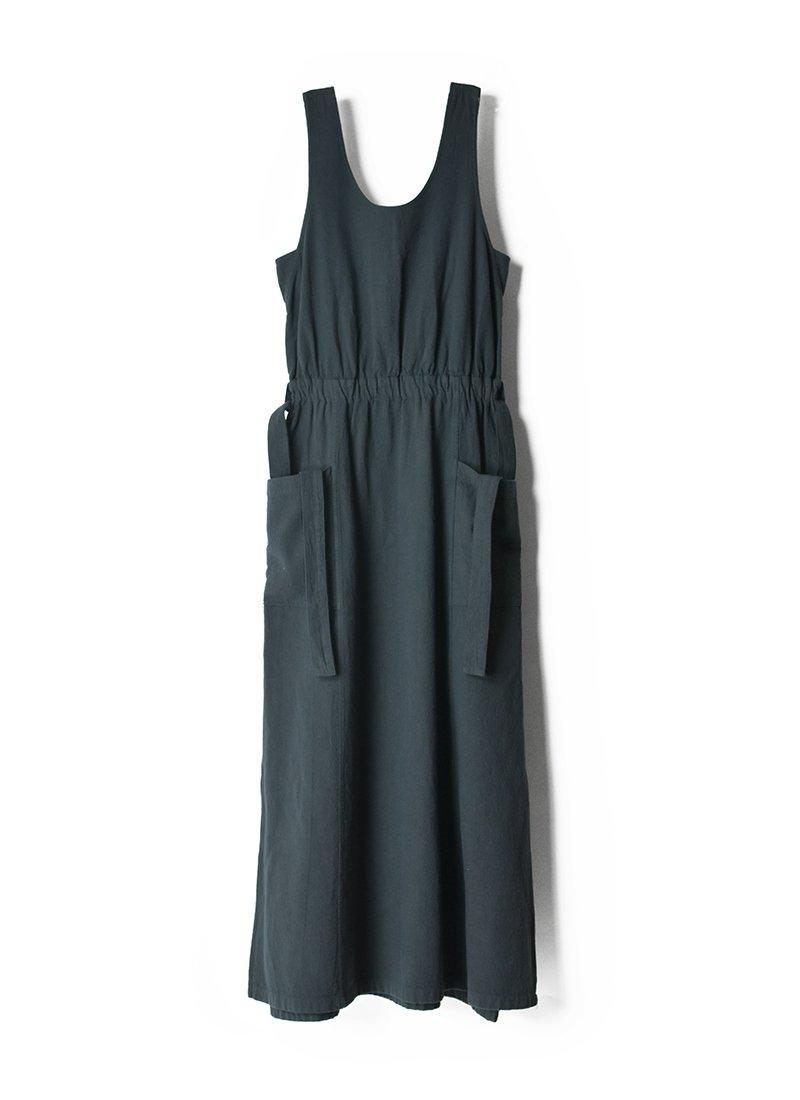 ARCHI Organic Cotton Twill Slit Dress