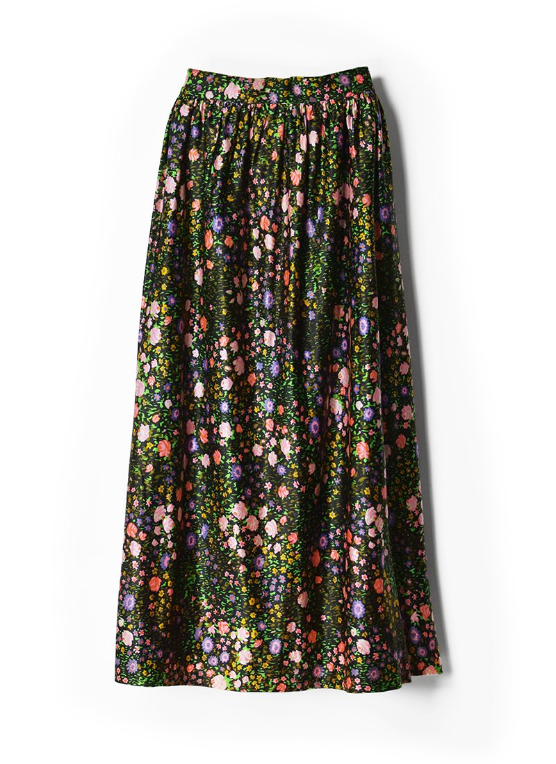 USED Floral Print Long Skirt No.6