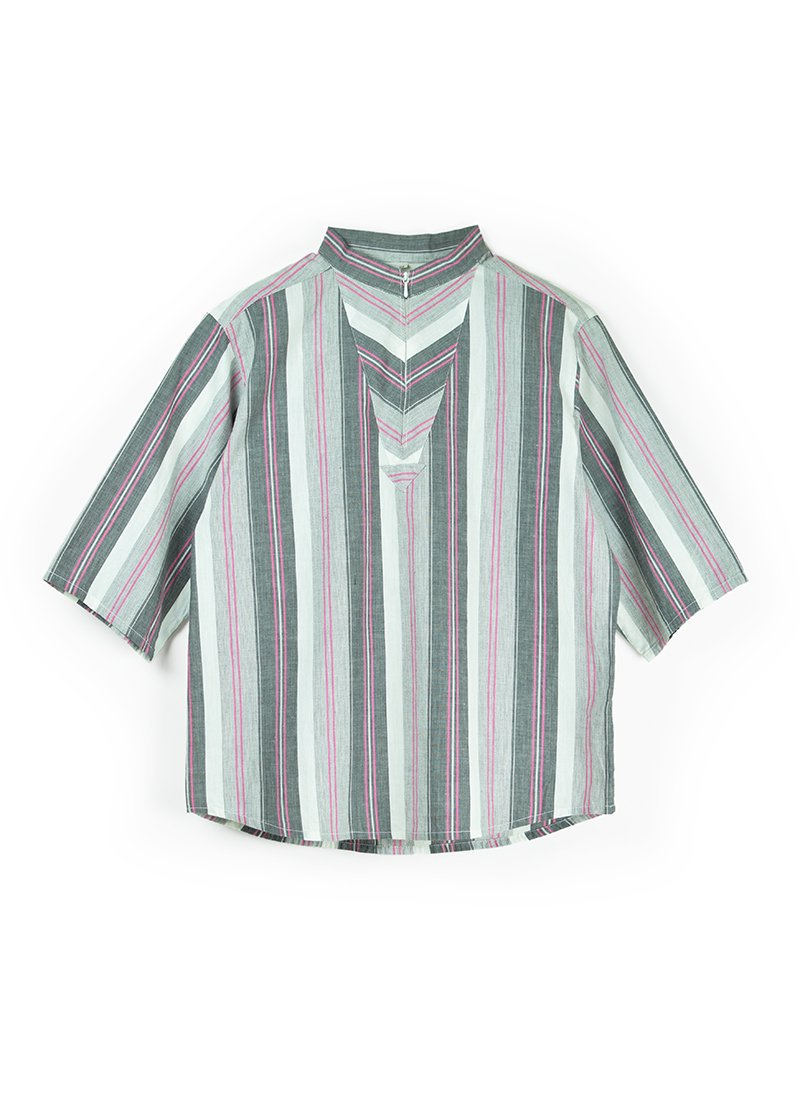 USED Striped Blouse