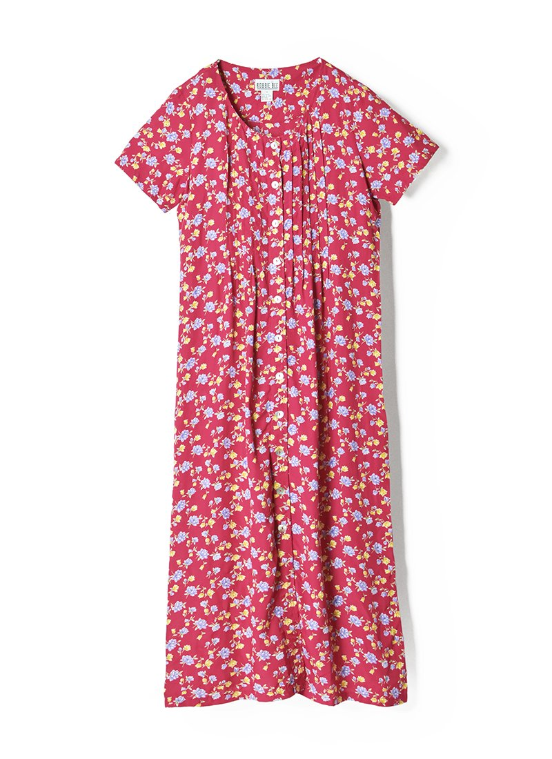 USED Rayon Floral Print Dress No.2