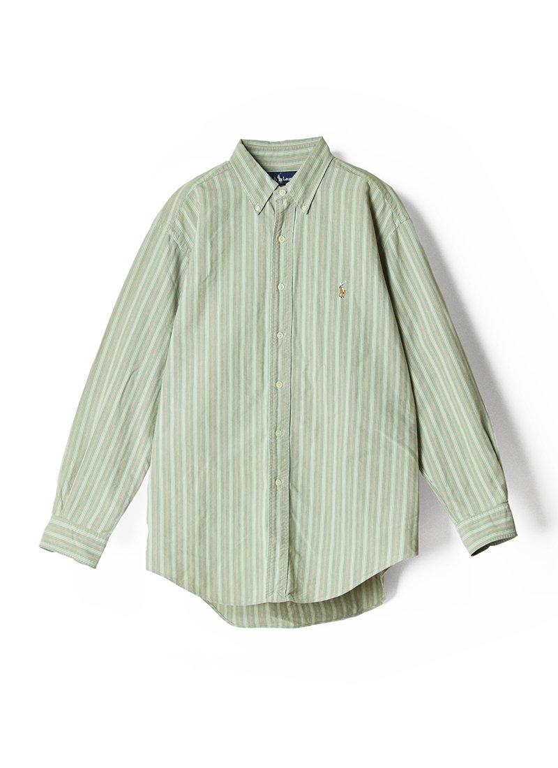 USED RALPH LAUREN Stripe B.D.Shirt No.15