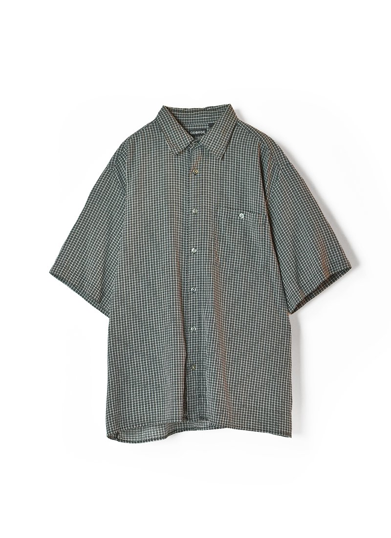 USED Patterned Design Silk Shirt