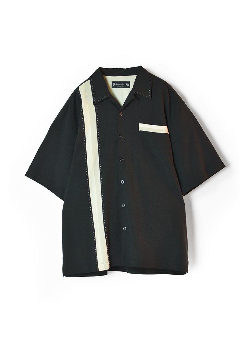 USED Line Designed Open Collar Silk Shirt
