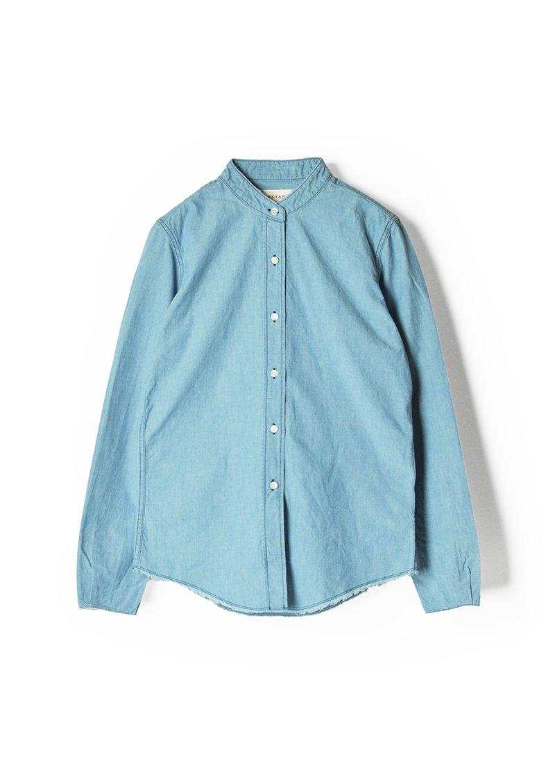 MEYAME Stand Collar Denim Shirt
