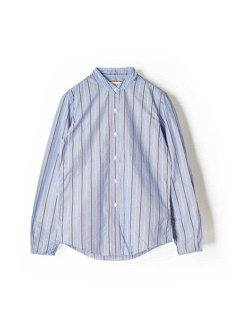 MEYAME Stand Collar Striped Shirt
