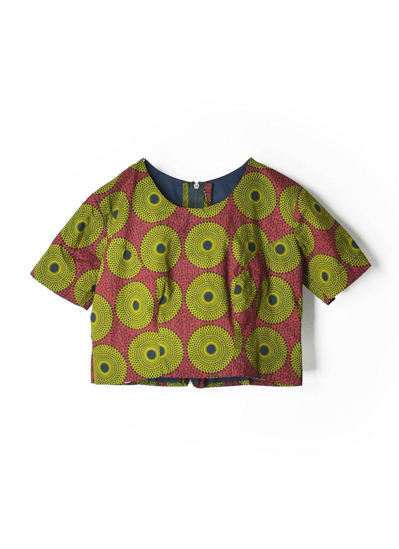 USED African Batik Blouse No.2