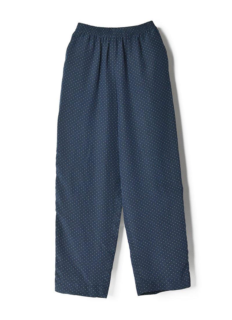 USED Silk Dot Easy Pants