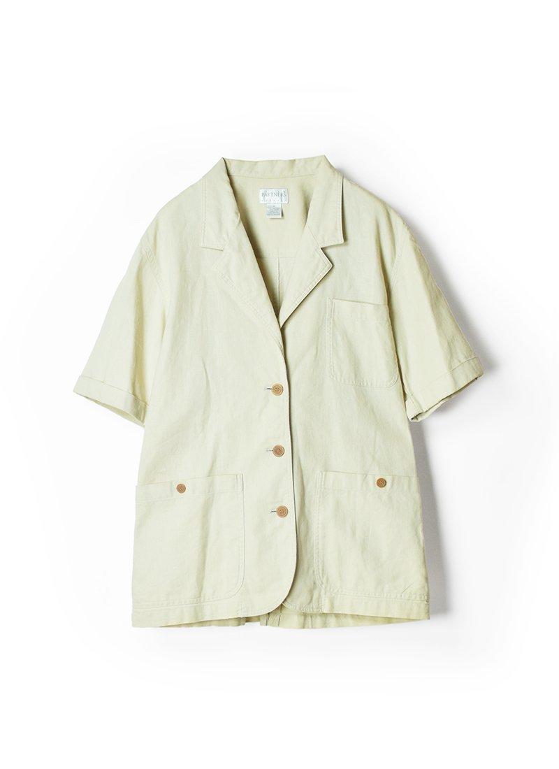 USED Short Sleeve Linen Jacket
