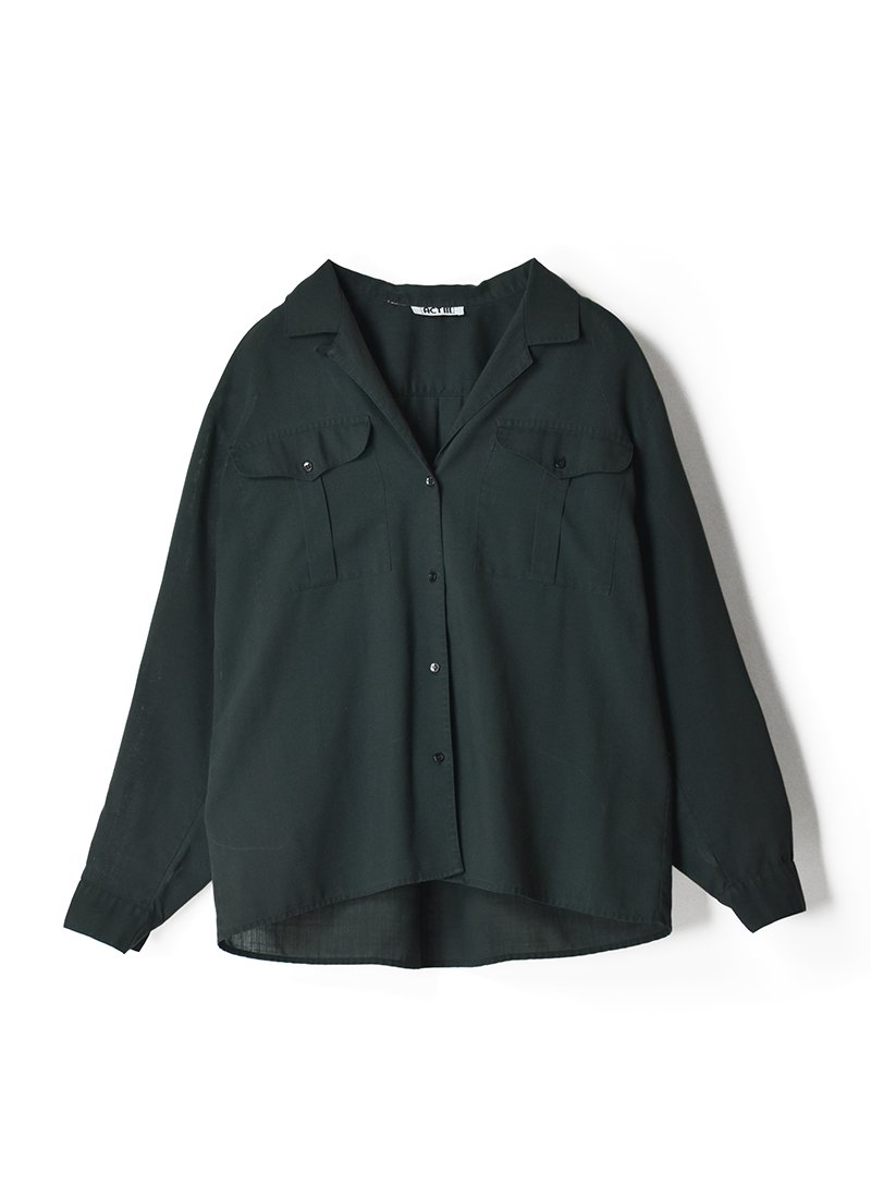USED Open Collar Blouse