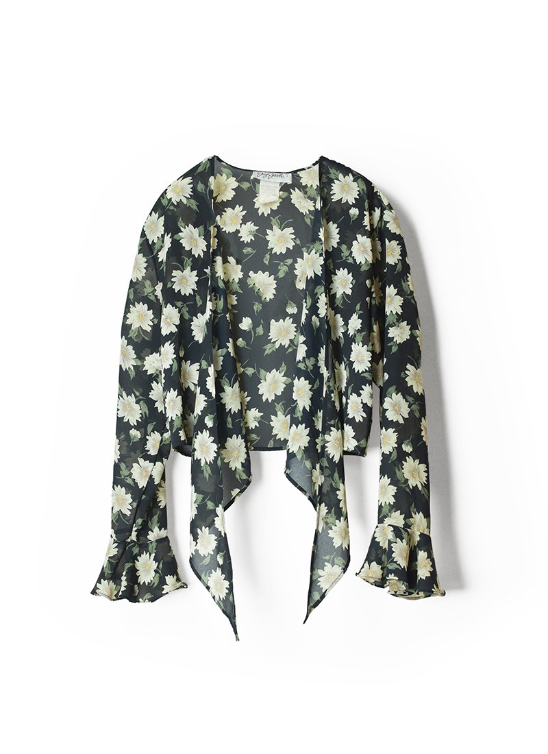 USED Floral Design Blouse