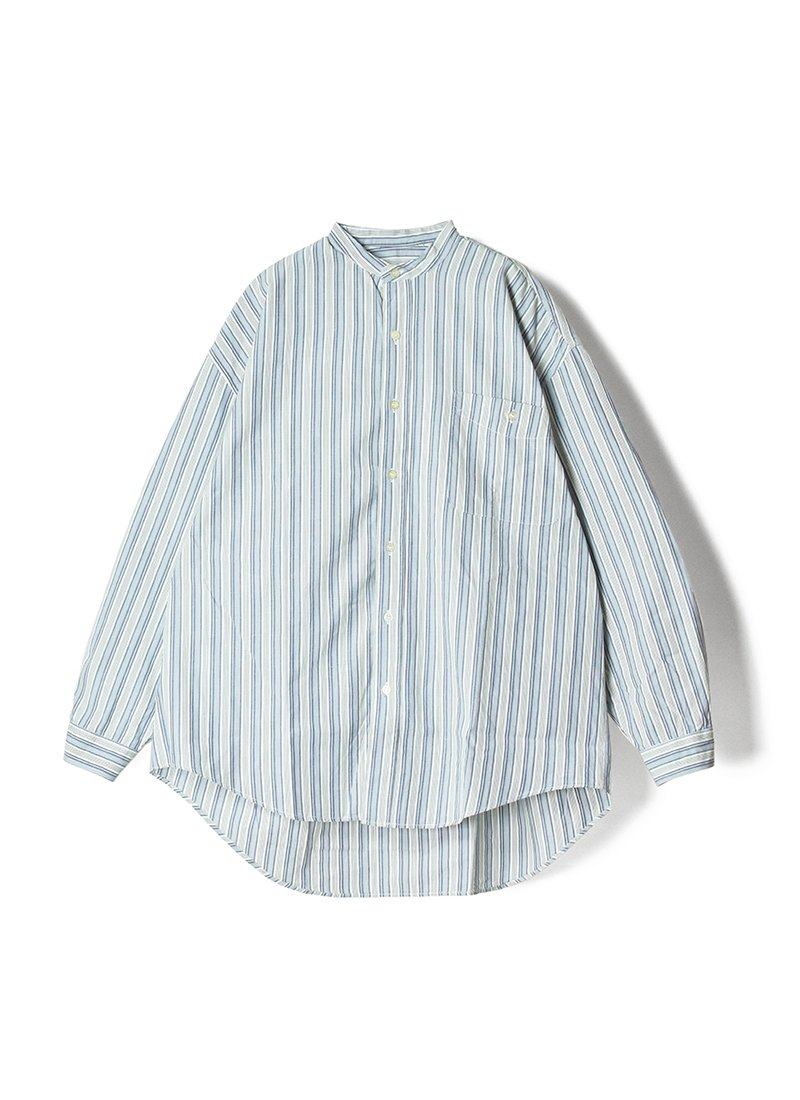 USED Stand Collar Striped Shirt No.2