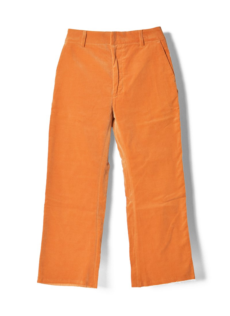 MEYAME Velour Cut-off Pants