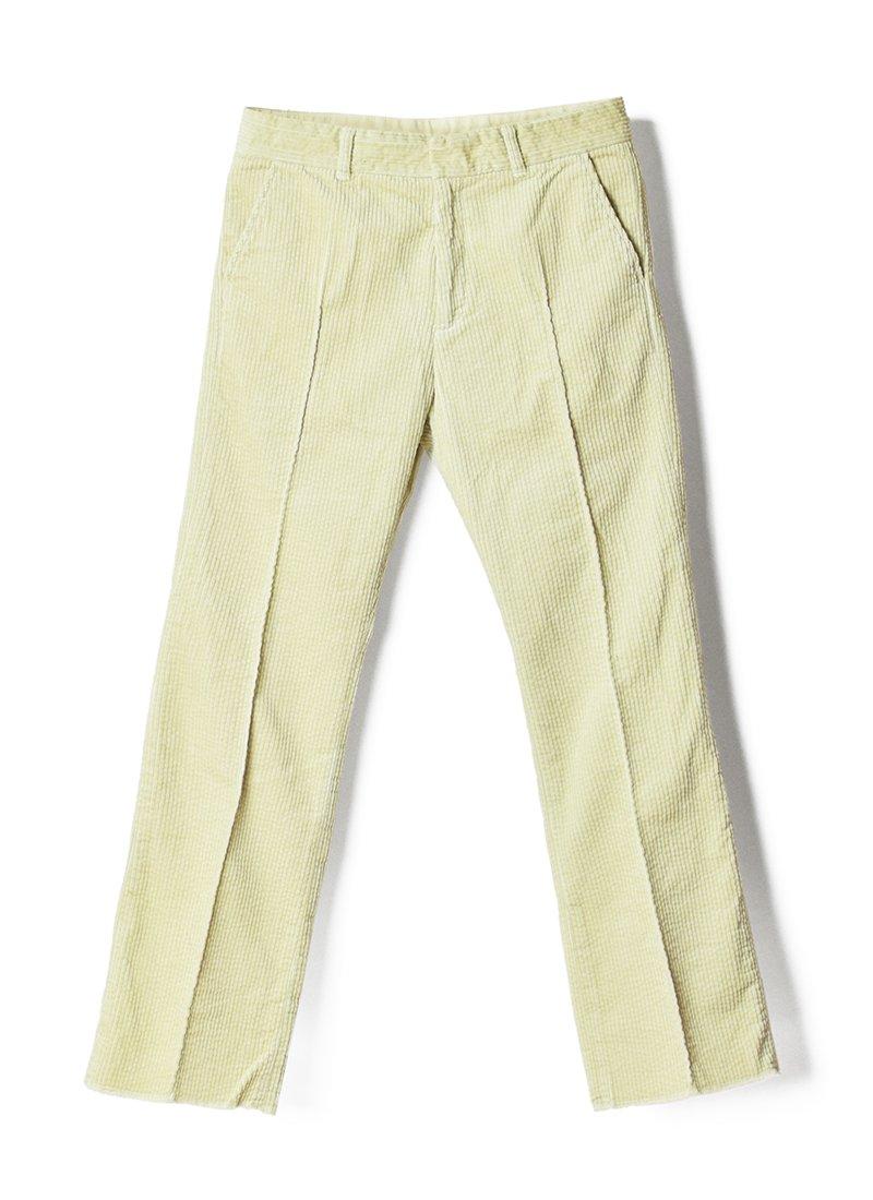 MEYAME Corduroy Center Pleats Pants