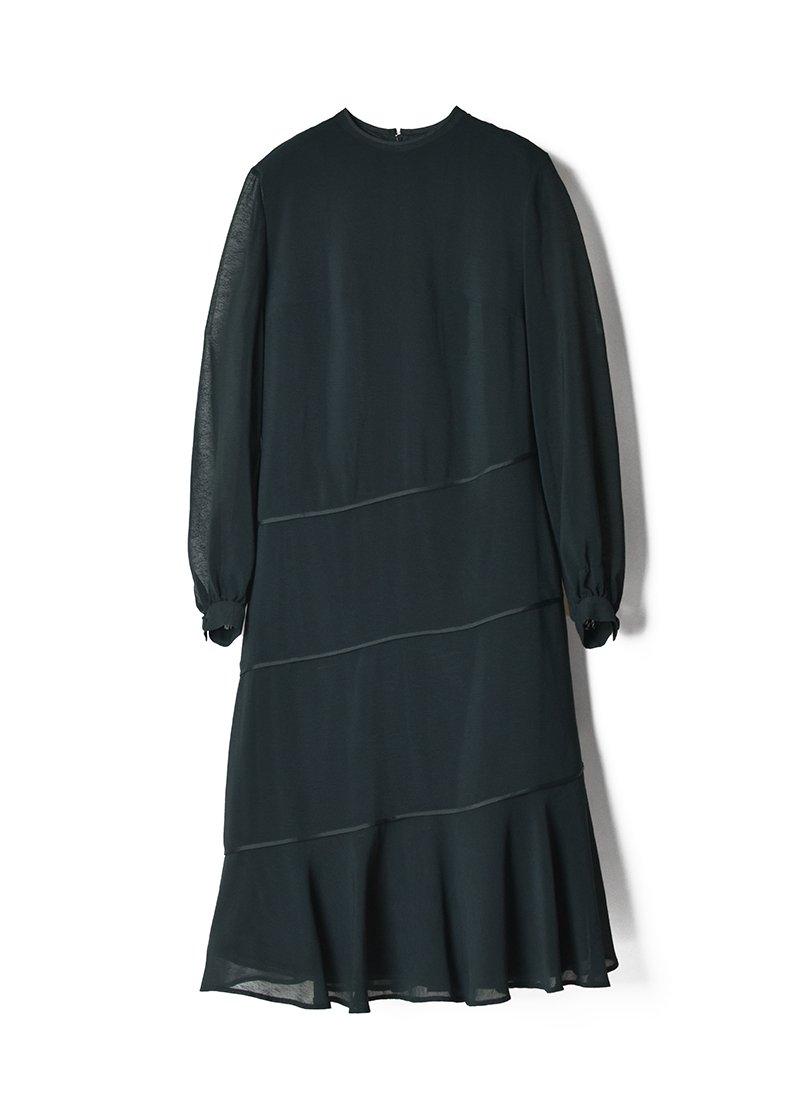 USED Black Design Dress
