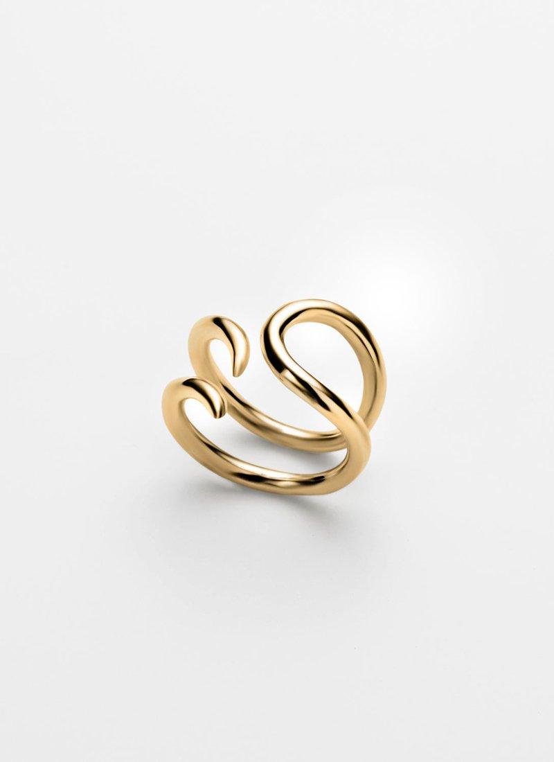 SAPIR BACHAR Gold Paisley Ring