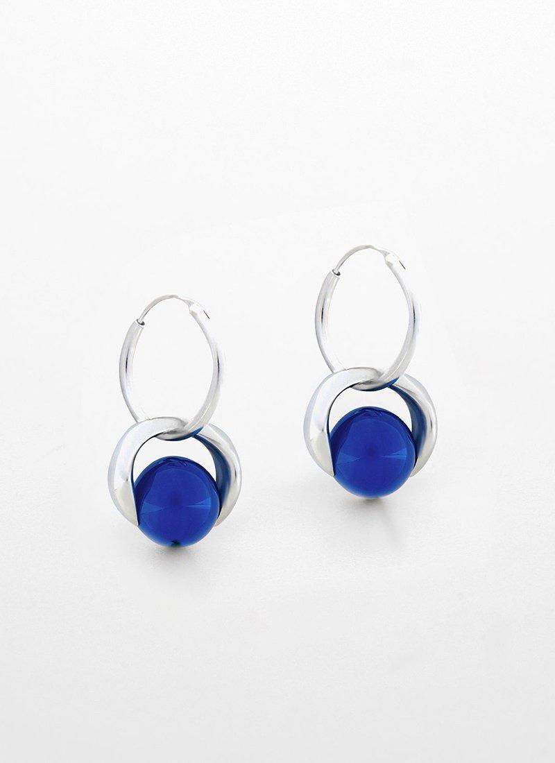 SAPIR BACHAR Blue Agate Hoops