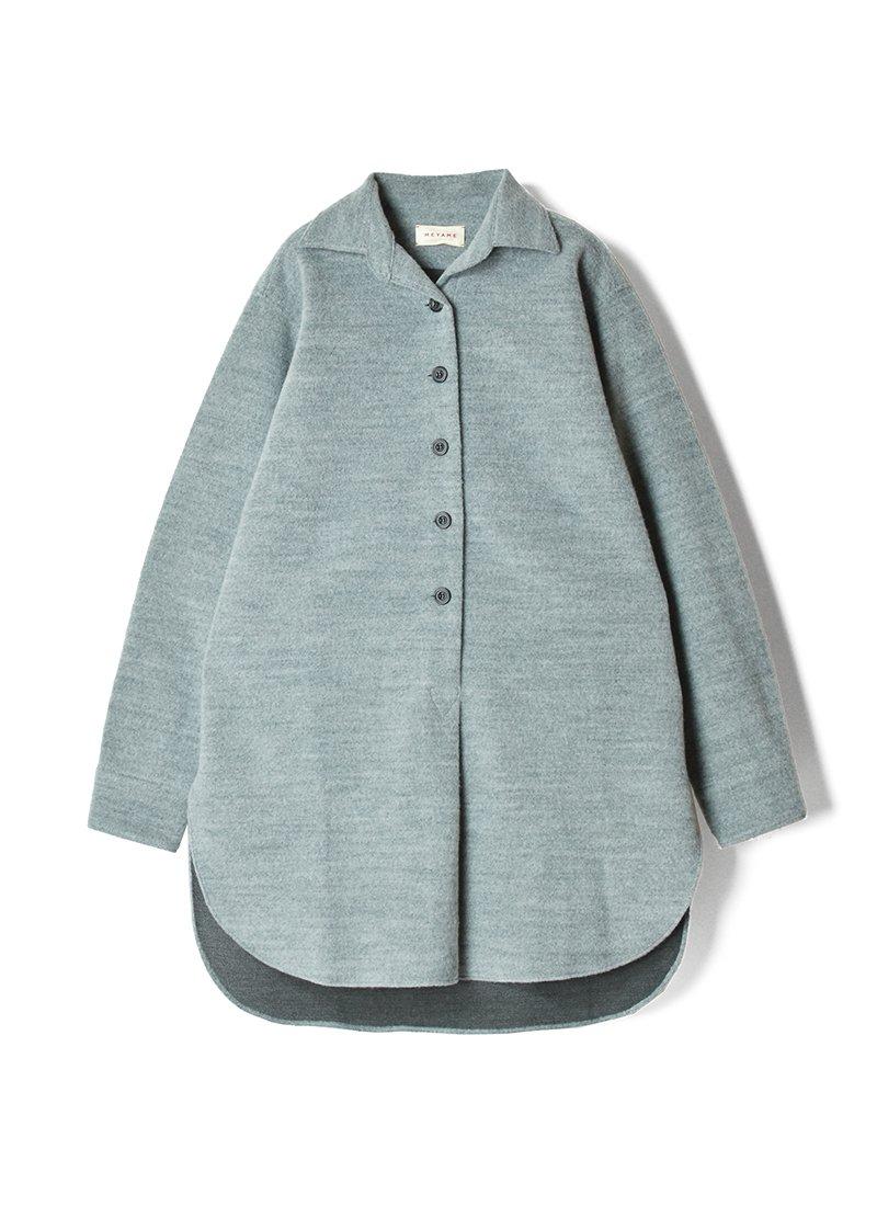 MEYAME Wool Long Shirt