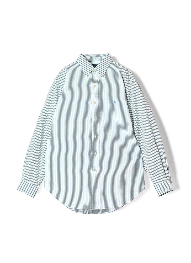 USED RALPH LAUREN Stripe B.D.Shirt No.20