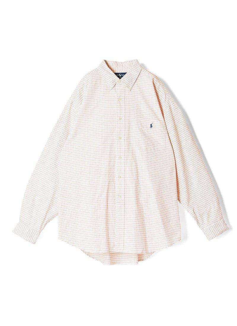 USED RALPH LAUREN Windowpane B.D.Shirt