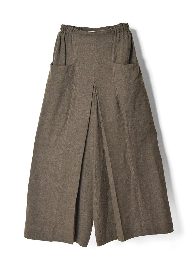 ARCHI Soft Twist Twill Wide Tack Pants