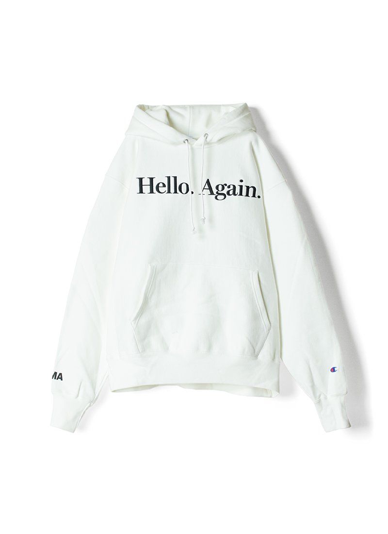 """Champion Reverse Weave Pullover Hoodie """"Hello.Again"""""""