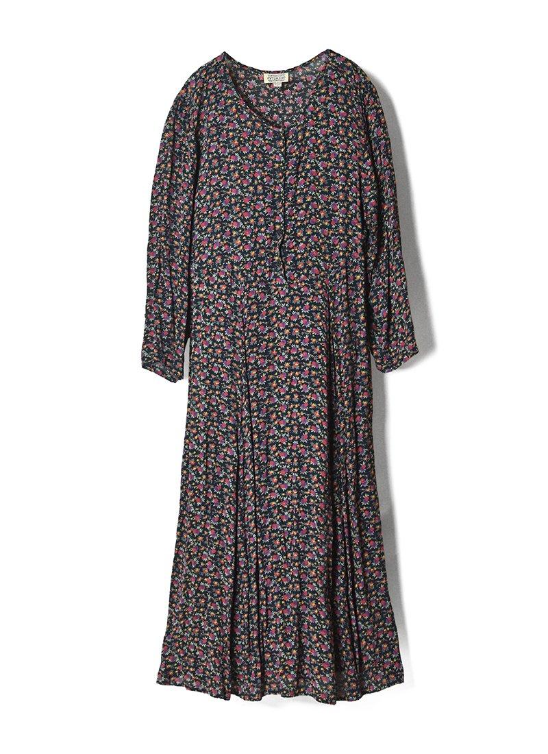 USED Rayon Floral Print Dress No.3
