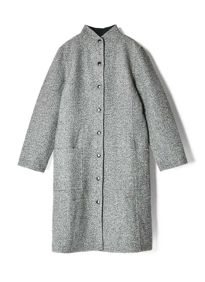 USED Reversible Stand Collar Coat