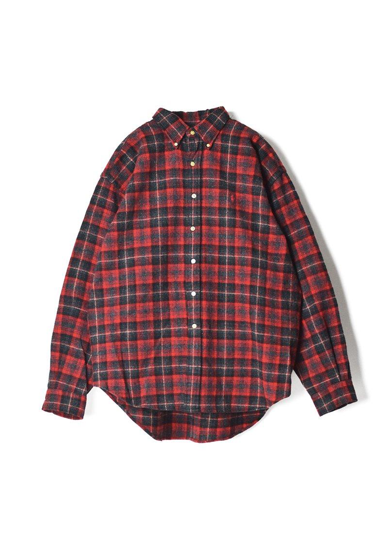 USED RALPH LAUREN Wool Ombre Check B.D.Shirt