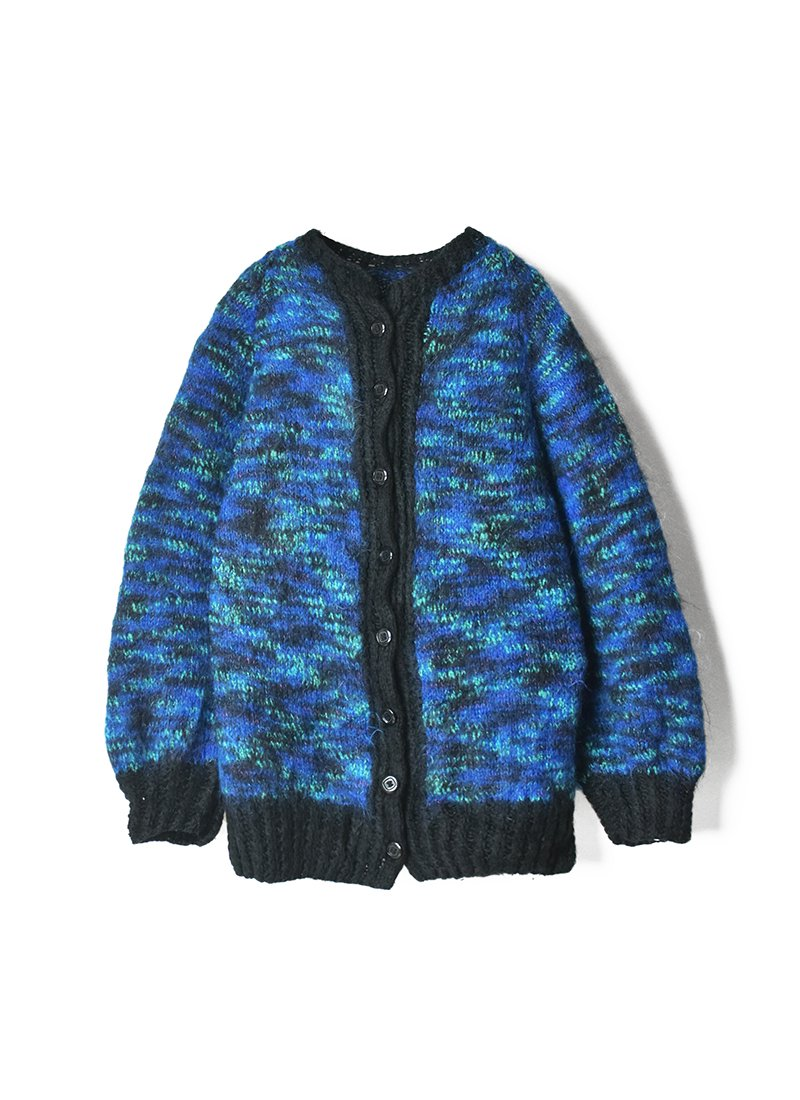 USED Mohair Mix Knit Cardigan