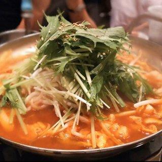 ホルモンチゲ(大・トッポギ、麺2人前付き)