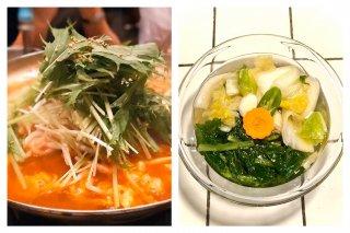 お得!!ホルモンチゲ大(麺2人前付き)水キムチセット