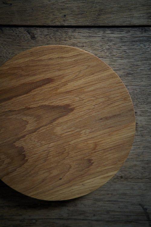 木のプレート丸 S