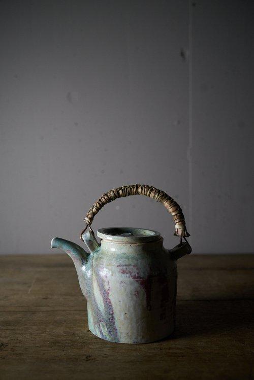 土と艸土瓶 窯変