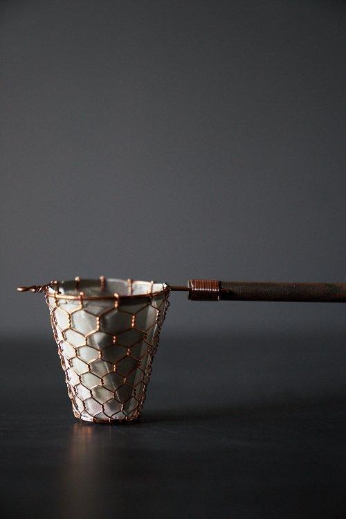 手編み銅製コーヒードリッパー小