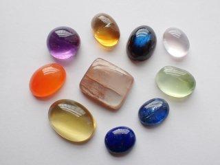彩り天然石小粒10個セット【c2224】