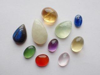 彩り天然石小粒10個セット【c2225】