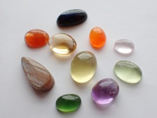 彩り天然石小粒10個セット【c2226】