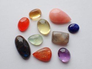 彩り天然石小粒10個セット【c2228】