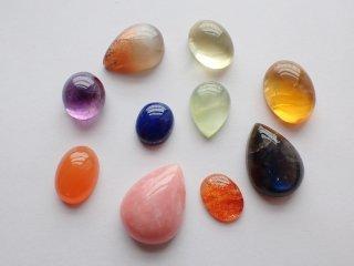 彩り天然石小粒10個セット【c2230】