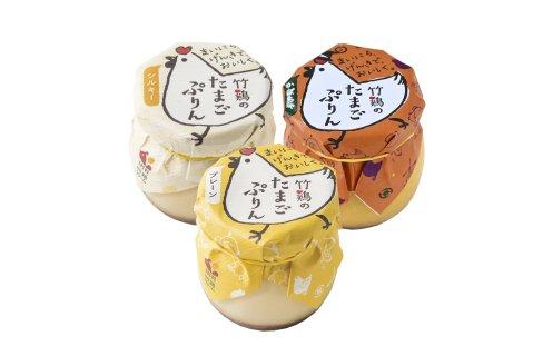竹鶏のたまごぷりん(ミント・シルキー・プレーン3種3個入)
