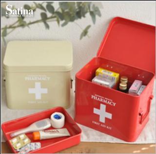 スチール救急箱(RED)