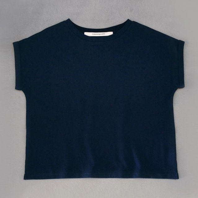 French sleeve   tops        navy