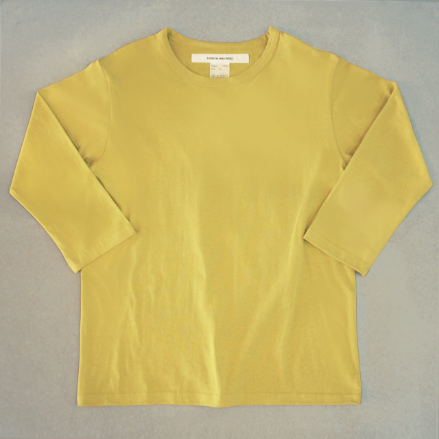 <img class='new_mark_img1' src='https://img.shop-pro.jp/img/new/icons6.gif' style='border:none;display:inline;margin:0px;padding:0px;width:auto;' />T-shirt 7.8oz solid three-quarter sleeves yellow