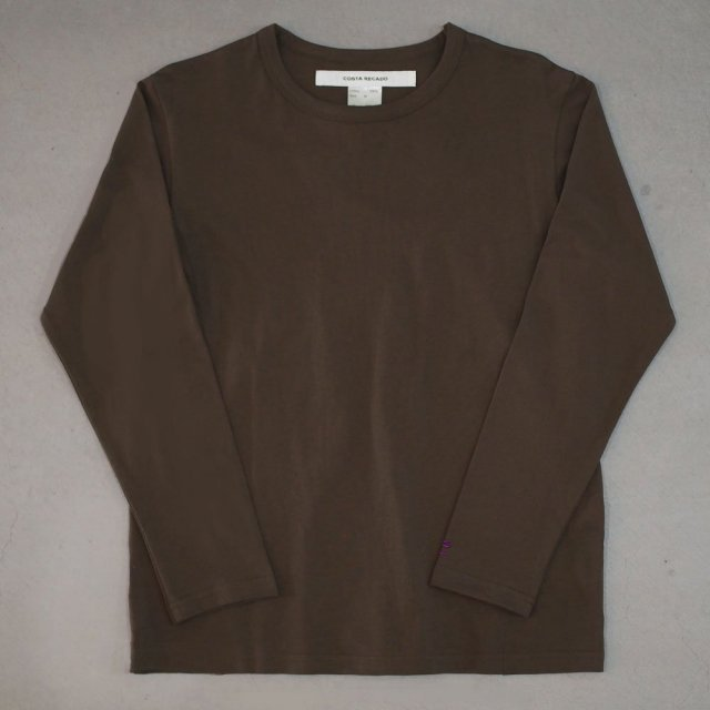 """<img class='new_mark_img1' src='https://img.shop-pro.jp/img/new/icons6.gif' style='border:none;display:inline;margin:0px;padding:0px;width:auto;' />T-shirt 7.8oz long sleeves brown """"departure"""""""